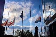 040921 The Union Jack flies at half mast over UK Spain Embassy