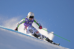 26.10.2013, Rettembach Ferner, Soelden, AUT, FIS Ski Alpin, FIS Weltcup, Ski Alpin, 1. Durchgang, im Bild Viktoria Rebensburg from Germany races down the course // Viktoria Rebensburg from Germany races down the course during 1st run of ladies Giant Slalom of the FIS Ski Alpine Worldcup opening at the Rettenbachferner in Soelden, Austria on 2012/10/26 Rettembach Ferner in Soelden, Austria on 2013/10/26. EXPA Pictures © 2013, PhotoCredit: EXPA/ Mitchell Gunn<br /> <br /> *****ATTENTION - OUT of GBR*****