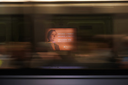 A view of an advert on the Metrorail subway in Washington DC in the United States. From a series of travel photos in the United States. Photo date: Friday, March 30, 2018. Photo credit should read: Richard Gray/EMPICS