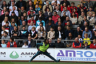substitute Renato Sanches of Swansea City warms up in front of Swansea city fans during the 1st half. Premier league match, Swansea city v Watford at the Liberty Stadium in Swansea, South Wales on Saturday 23rd September 2017.<br /> pic by  Andrew Orchard, Andrew Orchard sports photography.
