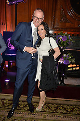 """MARK DAECHE and NANCY DELL'OLIO at the presentation of Le Prix Champagne De La Joie de Vivre to Stephen Webster in celebration of his long standing contribution to """"Joie de Vivre' held at the Council Room, One Great George Street, London on 22nd April 2015."""