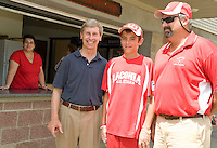 Governor John Lynch at Little League state championships in  Laconia, NH