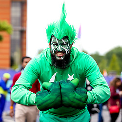 Pakistan fans during the Cricket World Cup 2019 - Mandatory by-line: Robbie Stephenson/JMP - 16/06/2019 - CRICKET- Old Trafford - Manchester, England - India v Pakistan - ICC Cricket World Cup 2019 group stage