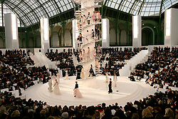 Chanel's Haute-Couture Spring-Summer 2006 fashion collection presentation at the Grand Palais in Paris, France on January 24, 2006. Photo by Nebinger-Orban/ABACAPRESS.COM.