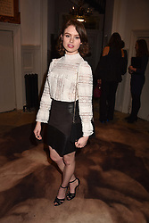 Sarah Winter at PPQ LFW Autumn Winter 2017 show, Crypt on the Green, Clerkenwell, London England. 17 February 2017.