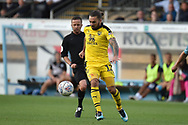 Oxford United midfielder (on loan from Sheffield United) Ricky Holmes) (12) sprints forward with the ball during the EFL Sky Bet League 1 match between Wycombe Wanderers and Oxford United at Adams Park, High Wycombe, England on 15 September 2018.