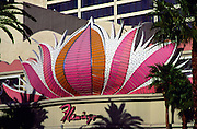Flamingo casino building detail, The Strip, Las Vegas, Nevada, USA