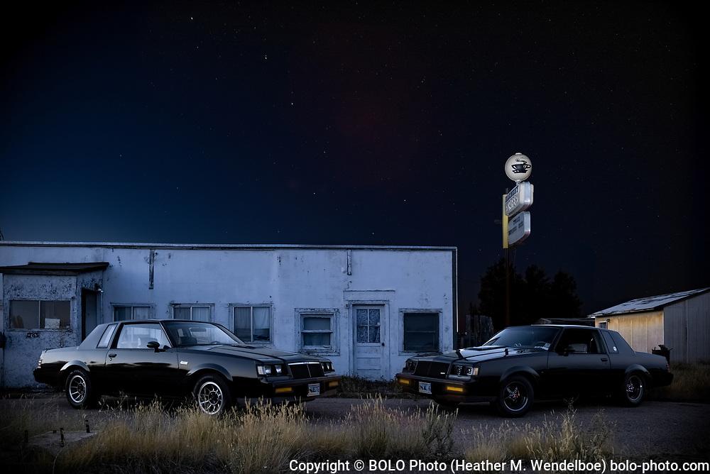 Big Dipper of Defunct Harmony  <br /> 2018: Harmony, Wyoming   <br /> $ 388 Original Aluminum Gallery Print 24x36 <br /> $ 71 Limited Edition of 11 Kodak Endura Metallic Photographic Prints (8x12)