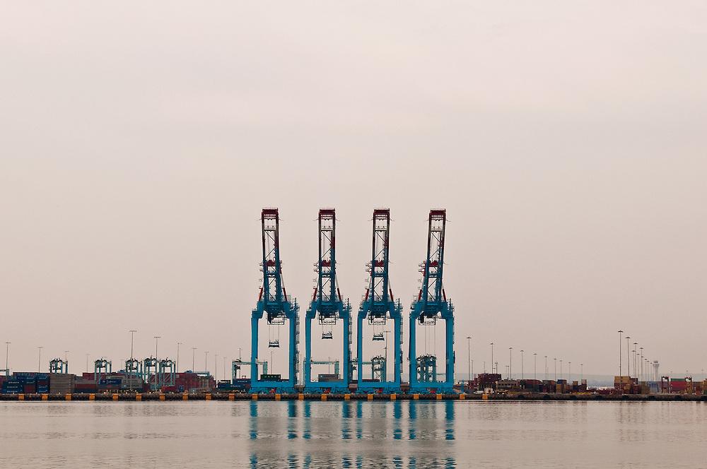 """Cargo Quartet""<br /> Port Newark Cargo Cranes<br /> Elizabeth, New Jersey"