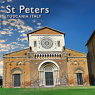 Pictures of St Peters Romanesque Basilica Church - Tuscania -