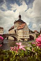 Old City Hall, Regnitz River, Bamberg, Germany.