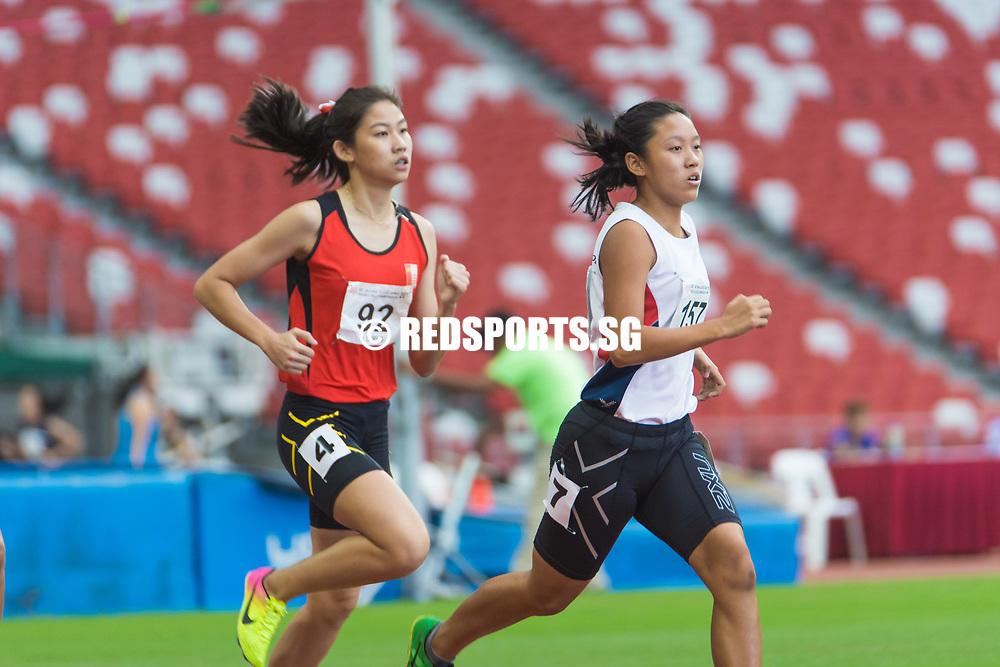 National Stadium, Friday, May 28, 2017 — Arissa Rashid led from start to finish to win the A girls race in a new personal best. Story: https://www.redsports.sg/2017/05/01/ab-girls-800m-nan-hua-phoebe-tay-hwa-chong-arissa-rashid/