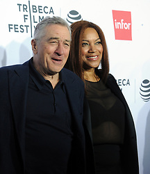 NEW YORK, NY - APRIL 21: Harvey Keitel, Robert De Niro, Grace Hightower attends the 'Taxi Driver' 40th Anniversary Celebration during the 2016 Tribeca Film Festival at The Beacon Theatre on April 21, 2016 in New York City. ...People:  Harvey Keitel, Robert De Niro, Grace Hightower. (Credit Image: © SMG via ZUMA Wire)