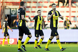 April 28, 2018 - Kortrijk, BELGIUM - Lierse's Frederic Frans (R) pictured during the Jupiler Pro League match between KV Kortrijk and Lierse, in Kortrijk, Saturday 28 April 2018, on day six of the Play-Off 2A of the Belgian soccer championship. BELGA PHOTO KRISTOF VAN ACCOM (Credit Image: © Kristof Van Accom/Belga via ZUMA Press)