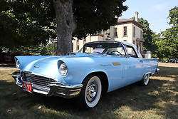 04 August 2012:  1957 Ford Thunderbird displayed at the McLean County Antique Automobile Club Show at the David Davis Mansion, Bloomington IL