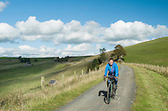 Cycling above Upper Longdale on the Tissington Trail