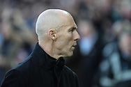 Swansea City manager Bob Bradley before the Premier League match between Swansea City and Crystal Palace at the Liberty Stadium, Swansea, Wales on 26 November 2016. Photo by Andrew Lewis.