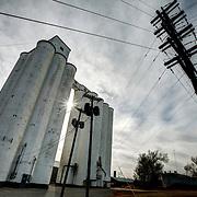 Grain silo along Hwy 281 in Pratt, Kansas.