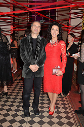 COLIN & HELEN DAVID at the Tunnel of Love art and fashion auction and dinner in aid of the British Heart Foundation held at One Mayfair, London on 12th November 2013.