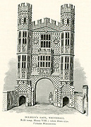 Holbein's Gate, Whitehall, London. Built in the time of Henry VIII it was demolished in 1750.
