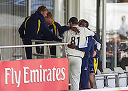 Rikki Clarke (81) (Warwickshire County Cricket Club) celebrates with team mates on the balcony  after winning the LV County Championship Div 1 match between Durham County Cricket Club and Warwickshire County Cricket Club at the Emirates Durham ICG Ground, Chester-le-Street, United Kingdom on 15 July 2015. Photo by George Ledger.