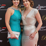 Hurlingham Club ,London, England, UK. 10th July, 2017. Hayley Sparkes & Rachelle Mesla attend The Grand Prix Ball attracted a host of star-studded celebrity guests last night at Hurlingham Club , including Formula 1 drivers as well as iconic Formula 1 cars. Guests mingled with the elite whist being enterained with live performances by award winning UK artists and DJs ahead of the British Grand Prix at Silverstone.