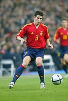 Fotball<br /> Privatlandskamp<br /> Spania v England<br /> 17. november 2004<br /> Foto: Digitalsport<br /> NORWAY ONLY<br /> Spain's Asier Del Horno