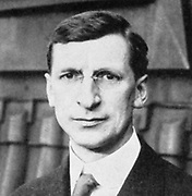 Eamon De Valera (1822-1975) American-born Irish statesman who, after fighting for Irish independence, became leader of Fianna Fail and served as Prime Minister of Ireland  and was elected President in 1959. Half-tone.