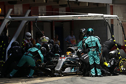 May 14, 2017 - Barcelona, Spain - Motorsports: FIA Formula One World Championship 2017, Grand Prix of Spain, .#44 Lewis Hamilton (GBR, Mercedes AMG Petronas F1 Team) (Credit Image: © Hoch Zwei via ZUMA Wire)