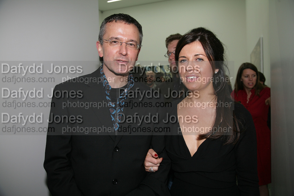 BRENDAN GRIGGS AND ALISON JACQUES, private view  of new exhibition by Tim Stoner , Alison Jacques Gallery in new premises in Berners St., London, W1 ,Afterwards across the rd. at the Sanderson Hotel. 3 May 2007. DO NOT ARCHIVE-© Copyright Photograph by Dafydd Jones. 248 Clapham Rd. London SW9 0PZ. Tel 0207 820 0771. www.dafjones.com.