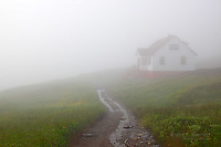 Historic lighthouse keeper's house, Quirpon Island, Newfoundland, Canada