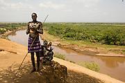 Karo tribe man. Omo Valley, Ethiopia