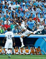 Corentin Tolisso (France) Nahitan Nandez (Uruguay)<br /> Nizhny Novgorod 06-07-2018 Football FIFA World Cup Russia  2018 Uruguay - France / Uruguay - Francia <br /> Foto Matteo Ciambelli/Insidefoto