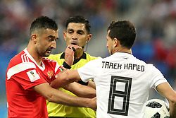 June 19, 2018 - St. Petersburg, Russia - 19 June 2018, Russia, St. Petersburg, FIFA World Cup 2018, First Round, Group A, First Matchday, Russia v Egypt. Player of the national team Alexander Samedov (19), Tarek Hamed  (Credit Image: © Russian Look via ZUMA Wire)