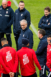 October 9, 2018 - LillestrØM, NORWAY - 181009 Lars Lagerbäck, head coach of Norway, and the players of Norway during a training session on October 9, 2018 in Lillestrøm..Photo: Jon Olav Nesvold / BILDBYRÃ…N / kod JE / 160321 (Credit Image: © Jon Olav Nesvold/Bildbyran via ZUMA Press)