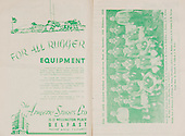 Rugby 11/03/1950 Five Nations Ireland Vs Wales