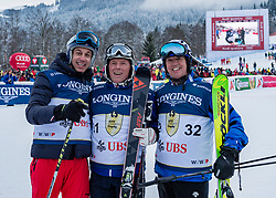 20.01.2018, Hahnenkamm, Kitzbühel, AUT, FIS Weltcup Ski Alpin, Kitzbuehel, Kitz Charity Trophy, im Bild v.l.: Toto Wolff, Harti Weirather, Peter van Schaik // f.l.: Toto Wolff Harti Weirather Peter van Schaik during the Kitz Charity Trophy of the FIS Ski Alpine World Cup at the Hahnenkamm in Kitzbühel, Austria on 2018/01/20. EXPA Pictures © 2018, PhotoCredit: EXPA/ Stefan Adelsberger