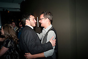 GILES COREN; ; JONATHAN YEO; , ' You're Only Young Twice' Jonathan Yeo exhibition. Lazarides. 11 Rathbone Place. London. 9 December 2011.