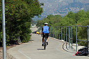 Bike Path, Los Angeles River. Glendale Narrows. Los Feliz, Los Angeles.