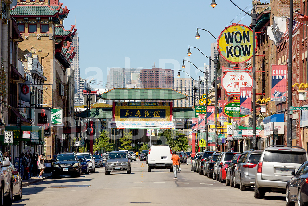 Chicago's Chinatown neighborhood South Wentworth Avenue on Wednesday, Aug. 19, 2020.  Photo by Mark Black