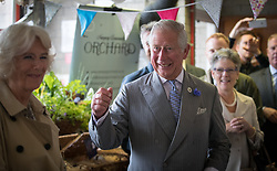 The Prince of Wales and Duchess of Cornwall arrive at Newquay Fire Station, Cornwall, to meet residents from Tregunnel Hill, a mixed-use neighbourhood built on Duchy of Cornwall land in Newquay comprising open-market and affordable homes.