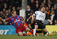 Thomas Radzinski (Fulham) Dammy Granville (Crystal Palace) Fulham v Crystal Palace, FA Barclaycard Premiership, 1/01/2005. Credit: Back Page Images / Matthew Impey
