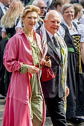 Gunter Sachs' son Rolf Sachs and his wife Princess Mafalda of Hesse at the wedding ceremony of heir of the throne of German House of Hanover, Prince Ernst August Jr. of Hanover, Duke of Braunscshweig and Lueneburg, and Russian designer Ekaterina Masysheva at the Marktkirche church in Hanover, Germany, 08 July 2017. The son of Prince Ernst August of Hanover Sen., who is married to Princess Caroline of Monaco, is related to several royal houses in Europe. The House of Hanover is a German royal dynasty that also ruled the United Kingdom between. Ernst-August Sr.'s own father (Ernst-August IV) opposed his son's marriage to first wife Chantal, a Swiss commoner. Photo by Robin Utrecht/ABACAPRESS.COM