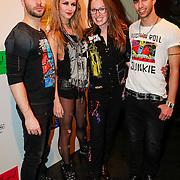 NLD/Amsterdam/20130404- Presentatie kledinglijn Rock & Roll Junkie van Lola Brood, Lola Brood en modellen