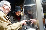 Prinses Margriet bij het herdekinsmunument naast het Watersnoodmuseum tijdens de Nationale Herdenking van de Watersnoodramp. Het is dit jaar 65 jaar geleden dat 1836 mensen het leven lieten door de Watersnoodramp van 1953. <br /> <br /> Princess Margriet at the rediscovery next to the Watersnoodmuseum during the National Commemoration of the flood disaster. It is 65 years ago this year that 1836 people were killed in the flood of 1953.<br /> <br /> OP ce foto / On the photo:  Prinses Margriet in gesprek met hulpverleners Rode Kruis en ooggetuige in het Watersnoodmuseum tijdens de Nationale Herdenking van de Watersnoodramp.<br /> <br /> Princess Margriet in conversation with relief workers Red Cross and eyewitness in the Flood Museum during the National Commemoration of the Flood.