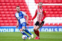 Alfie Kilgour of Bristol Rovers takes on Aiden O'Brien of Sunderland - Mandatory by-line: Robbie Stephenson/JMP - 12/09/2020 - FOOTBALL - Stadium of Light - Sunderland, England - Sunderland v Bristol Rovers - Sky Bet League One