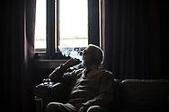 Octobre 2018. Serbie. Belgrade. Sur les traces du Front d'orient en Serbie et en Macédoine. Anniversaire des 100 ans de la fin de la première guerre mondiale 1914-1918. Gérald Beigbeder, figure de la communauté française de Belgrade dont la femme est serbe, connaisseur de l'histoire<br /> du front d'orient dans les Balkans.