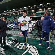 Fenerbahce's goalkeeper Volkan Demirel during the Turkish soccer super league match Bursaspor between Fenerbahce at the Ataturk Stadium in Bursa Turkey on Monday, 24 November 2014. Photo by Aykut AKICI/TURKPIX
