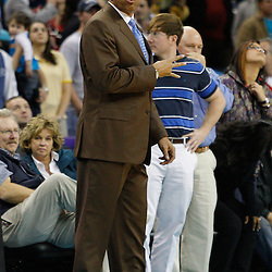 January 19, 2011; New Orleans, LA, USA; Memphis Grizzlies head coach Lionel Hollins during an overtime quarter against the New Orleans Hornets at the New Orleans Arena. The Hornets defeated the Grizzlies 130-102 in overtime.  Mandatory Credit: Derick E. Hingle