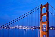 San Francisco Golden Gate Bridge at Dusk
